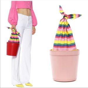Staud Britt bag in stripe rainbow pink